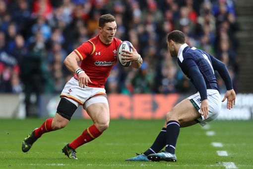 George North takes on Tim Visser at Murrayfield