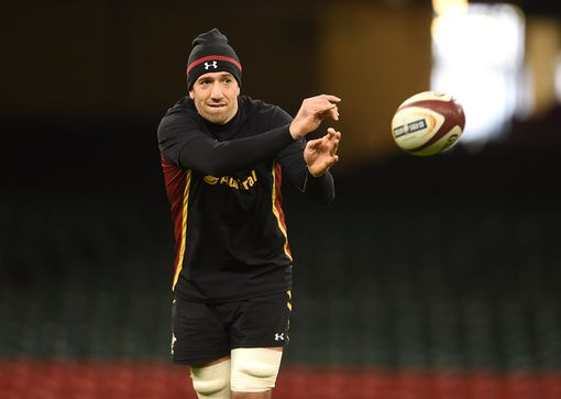 Justin Tipuric in training ahead of his 50th cap