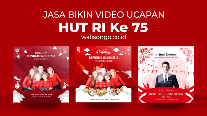 video ucapan hut ri 75