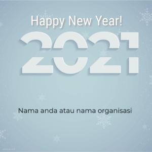 kartu ucapan tahun baru 2021 simple