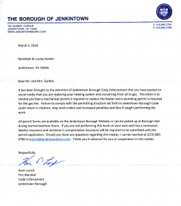 Full letter from Jenkintown Borough
