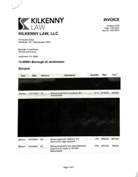 Kilkenny Law Invoices