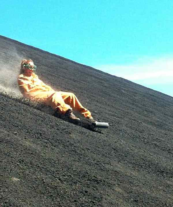 Volcano Boarding in Nicaragua! What its really like…