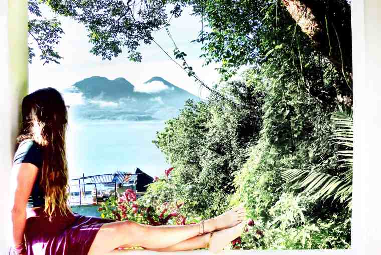 Enjoying the view from lush atitlan