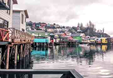 The palofito homes in Chiloe island