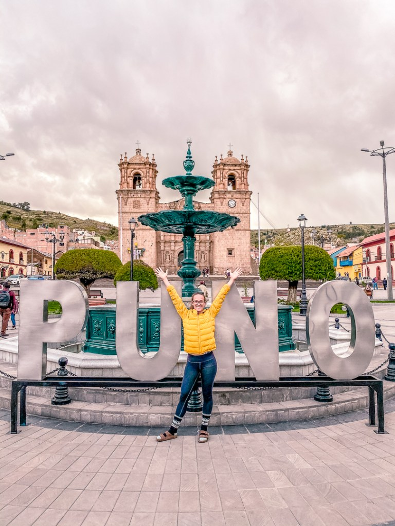 plaza de armas in Puno Peru