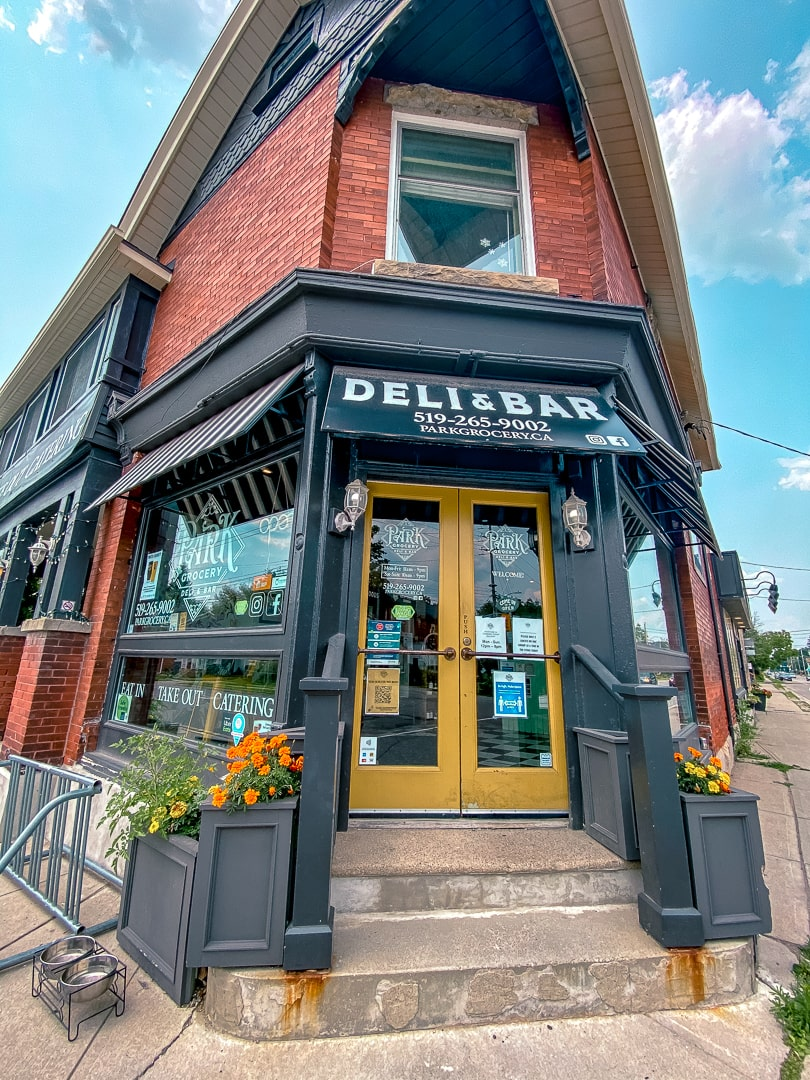 Park Grocery deli in Guelph ontario store front