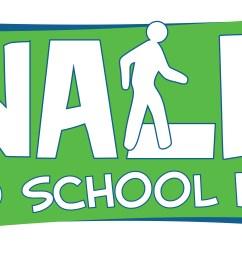 walk to school day logo 12 inch b w jpg  [ 3600 x 2004 Pixel ]