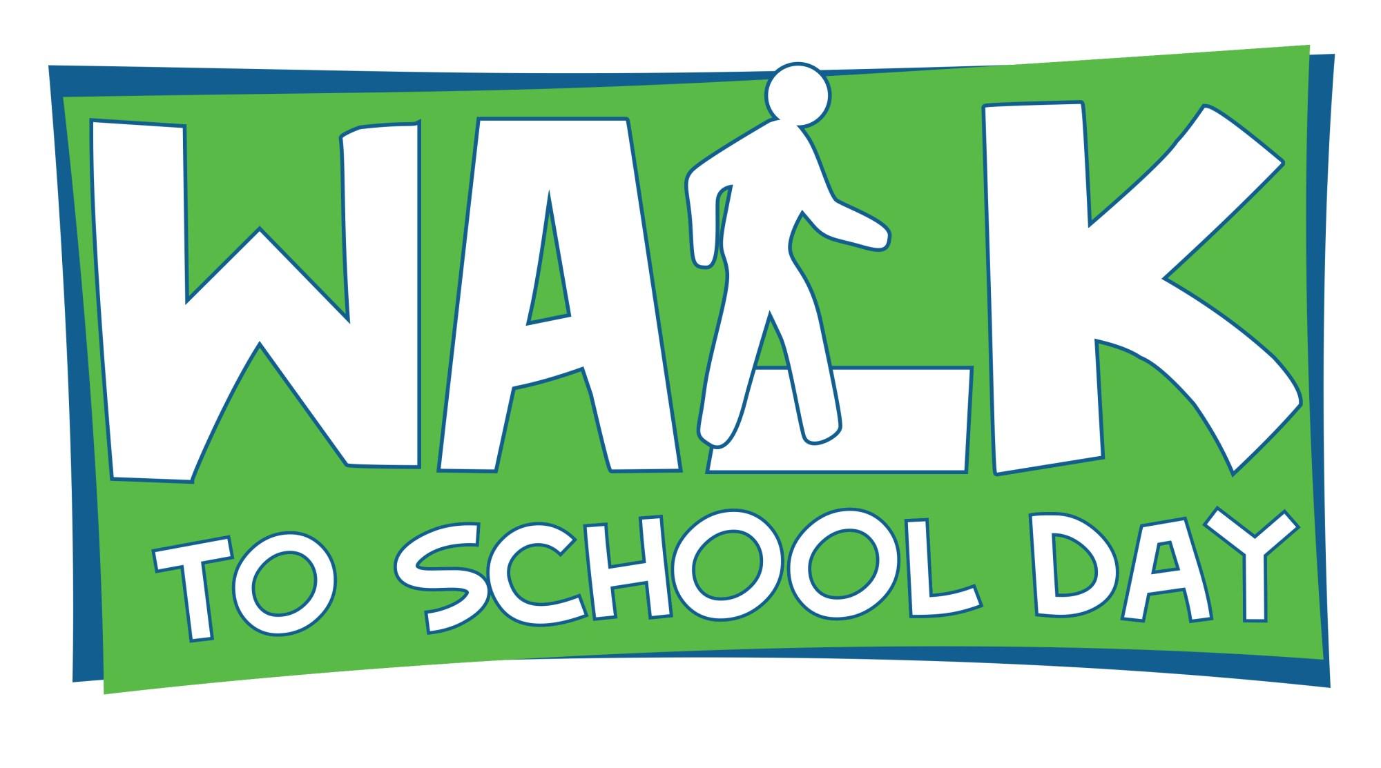 hight resolution of walk to school day logo 12 inch b w jpg