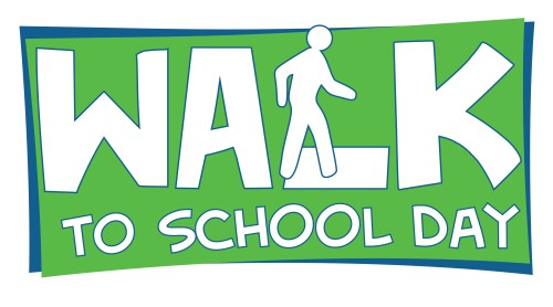 small resolution of walk to school day logo 12 inch b w jpg