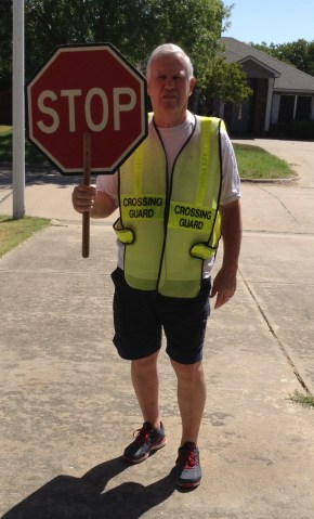 Crossing guard dad