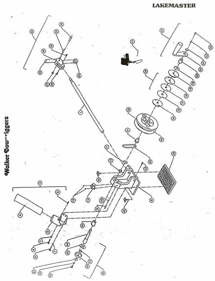 Walker Downriggers Parts List Manual