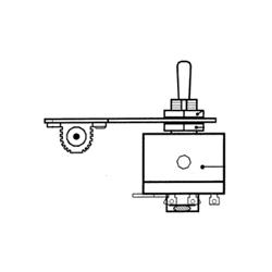 9339 KB Electronics Forward-Brake-Reverse Mechanical Switch