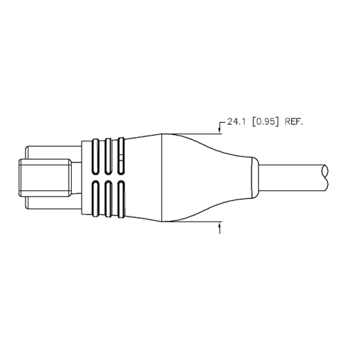 Deutsch DT Connector, Male, 2-Wire, 2M (DT04-2P-2125-2M