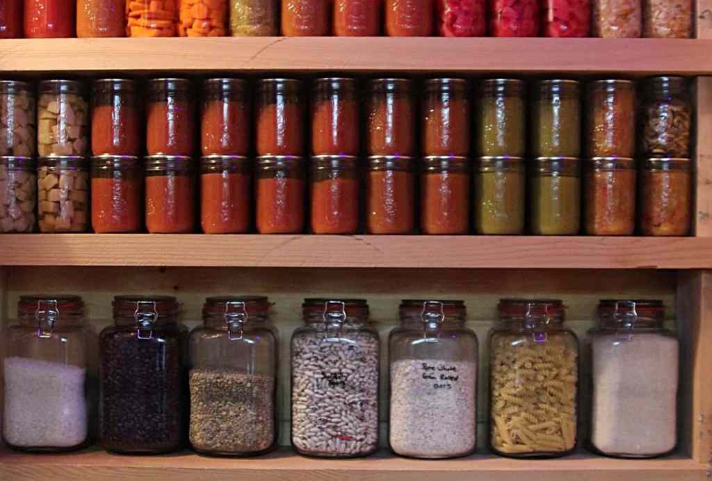 Eat Like a Pioneer - Canning jars, dry good and storage
