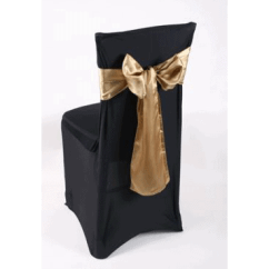 Gold Chair Covers With Black Sash Fisher High Lycra Cover Walkers Hire
