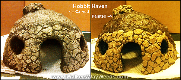 Hobbit Haven carved and painted
