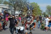 Parade Aztec dancers2