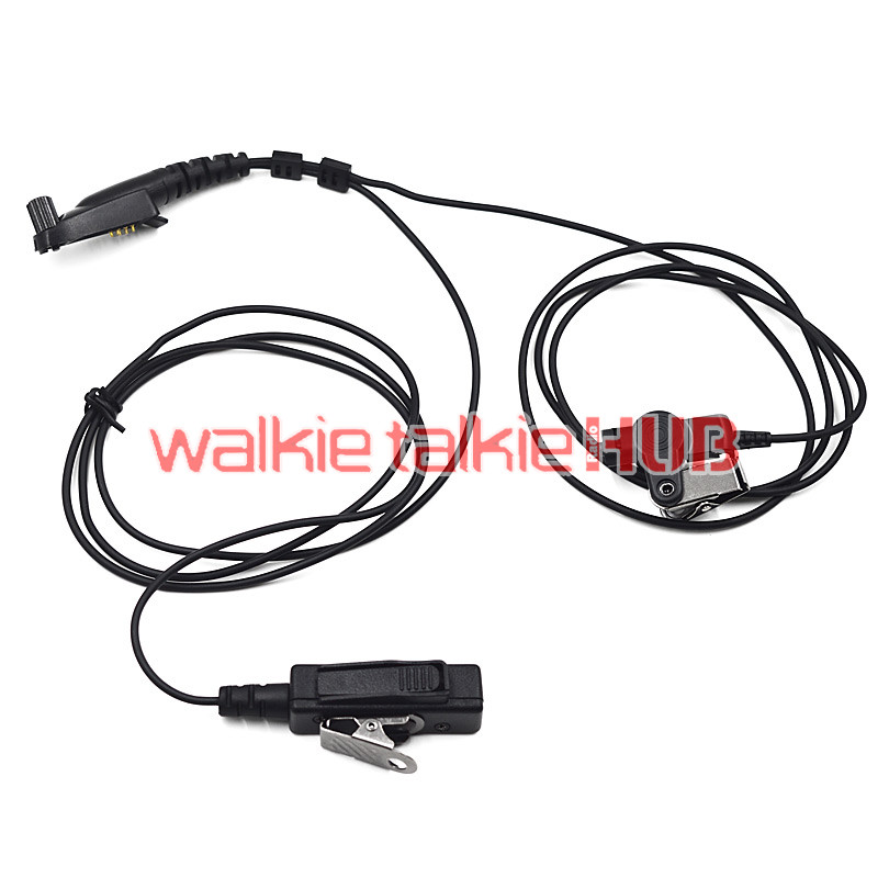 Surveillance Earpiece PTT Mic for Motorola Radio GP328plus