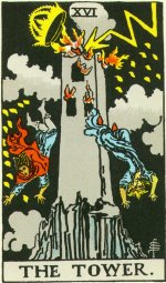 Tower Card from the Rider-Waite-Smith 1910 version