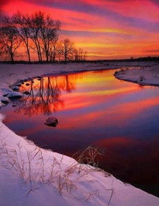 Winter Sunset by Melanie Mc Murray