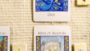A teaser screenshot of this week's Insight from the Oracles, with just a hint of the cards and runes showing.