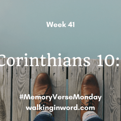 Memory Verse Monday - Feature Image - Week 41