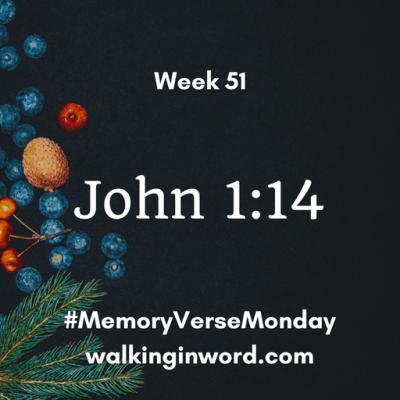 Memory Verse Monday - Week 51