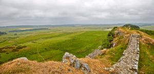 Hadrian's wall, Northumbelrand, National Park Panorama, Panoramic