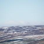 Snow scene over Ilkley Moor