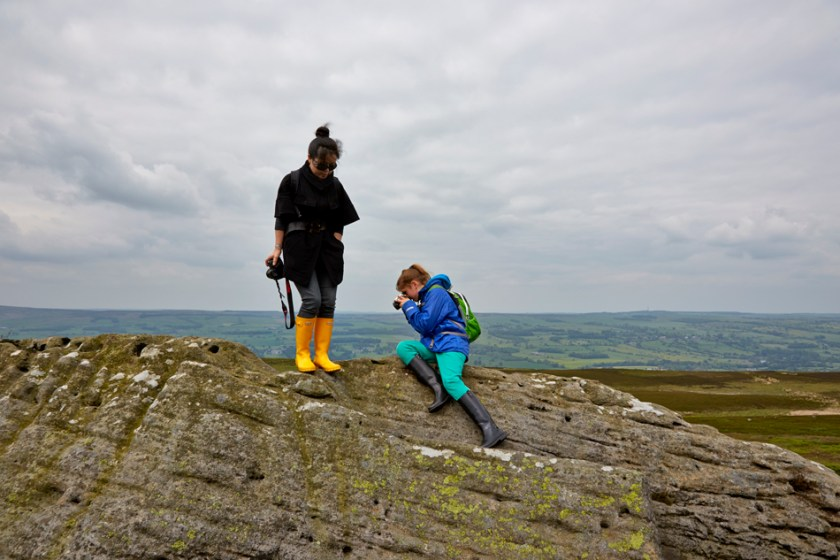Photography lesson on Ilkley Moor