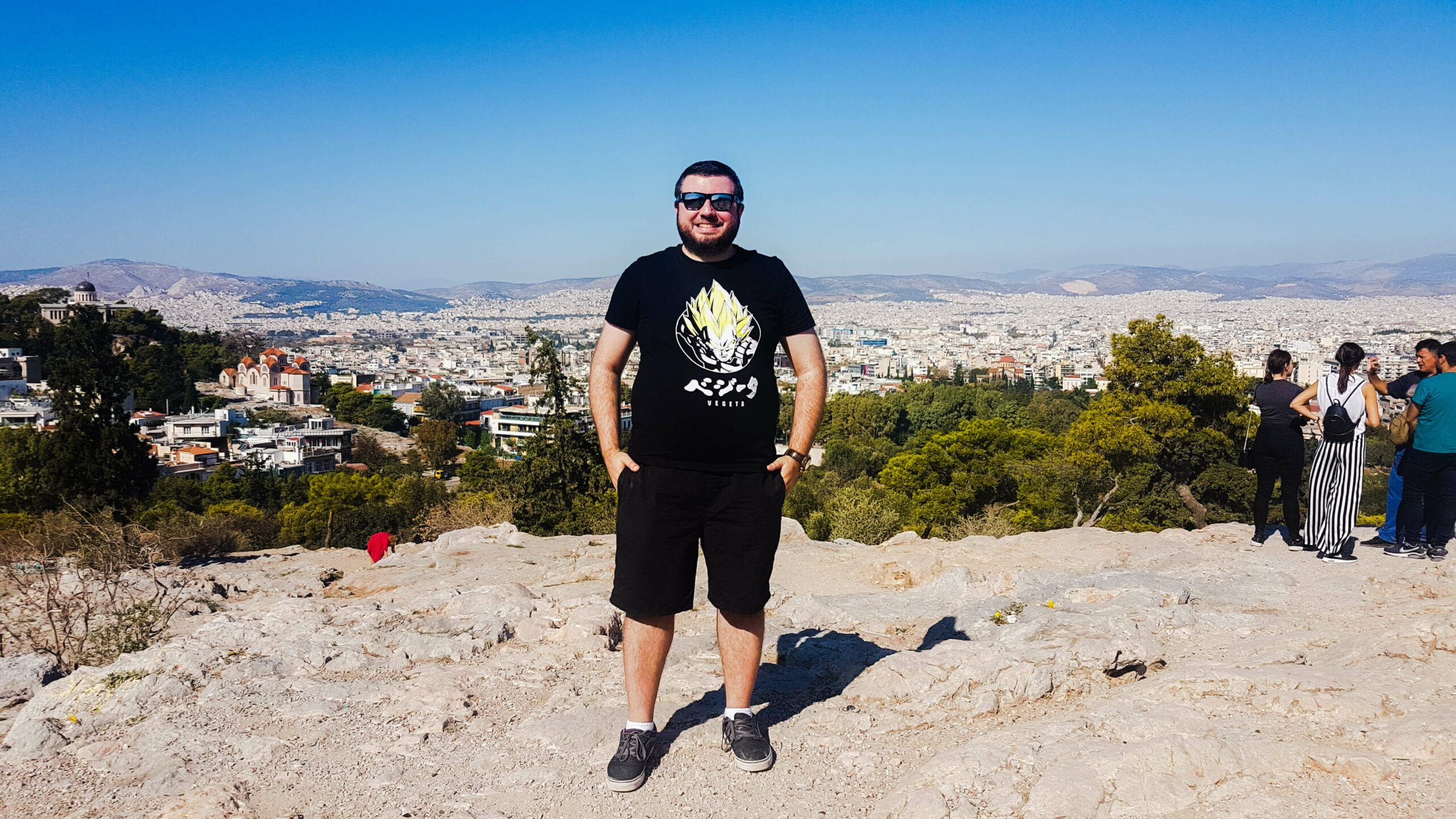 Me at Mars Hill, Athens this year - where reality was much better than expectations!