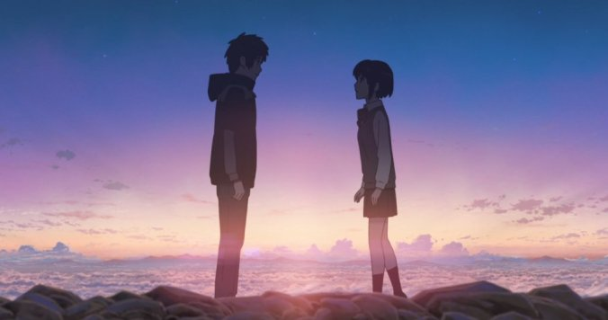 Taki and Mitsuha - I know, a surprise in a list on realistic movies on love!