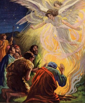 The Angels Announces The Lord S Birth To Shepherds Walking With A Limp