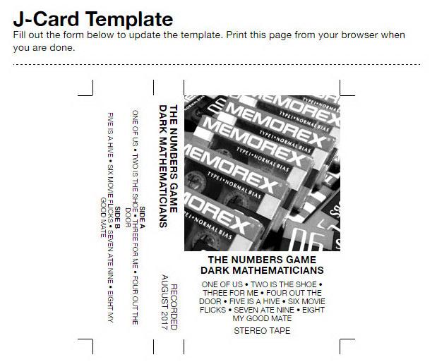 Making custom cassette labels & J-cards for your cassettes