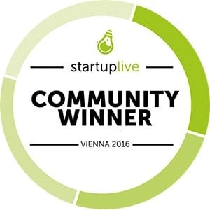 Startup Live Vienna - Community Winner 2016