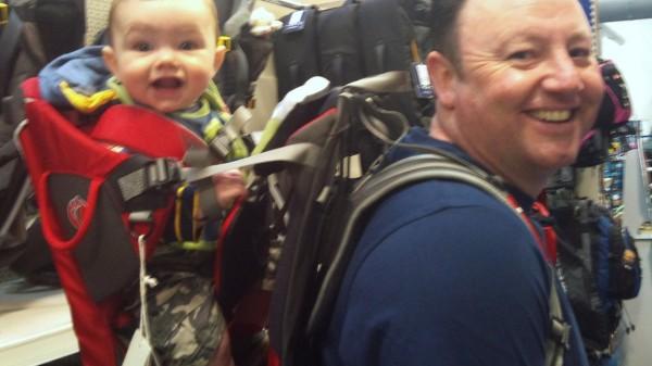 Tedi in the Little Life Traveller S2 Child Carrier