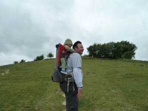 Climbing Deacon Hill Hertfordshire Icknield Way Chalk Downs