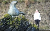 Nelson the Sealion West Looe Sea Wall Cornwall Walks Polperro Walking Route to Looe