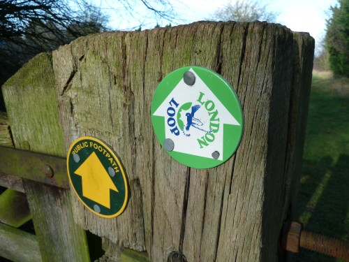 Walks And Walking - Essex Walks Epping Forest Abridge Walking Route - Hainault Forest London Loop Signpost