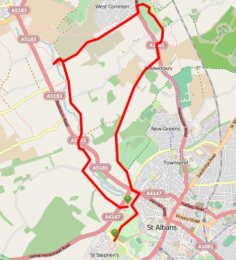 Walks And Walking - Hertfordshire Walks - St Albans Walking Route - ViewRanger