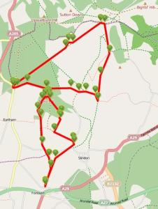 Walks And Walking - West Sussex Walks Slindon Estate National Trust Walking Route Map