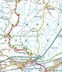 Walks And Walking - East Sussex Walks - Kent Walks - 1066 Country Walk - Walking Routes - 1 - Pevensey To Battle - Pevensey Westham To New Bridge