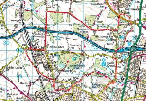 Walks And Walking - Hertfordshire Walks - Forty Hall Enfield Walking Route Map