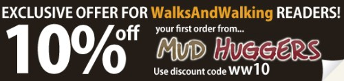 Mudhuggers Exclusive Offer For Walks And Walking