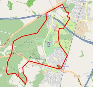 Walks And Walking - Essex Walks Oak Trail Epping Forest Walking Route Map