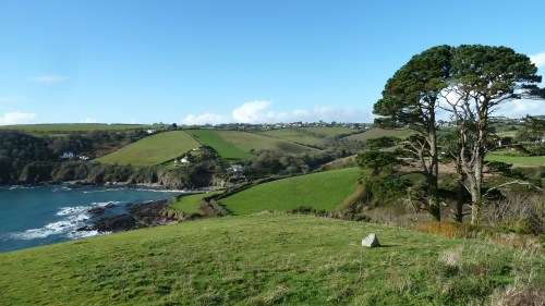 Walks And Walking - Cornwall Walks Looe to Polperro Walking Route - View from the church to Talland