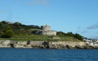 Walks And Walking - Cornwall Walks St Mawes Castle Walking Route - St Mawes Castle from the ferry