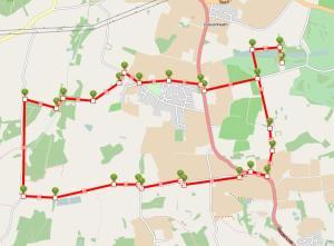 Walks And Walking - Suffolk Walks Stoke by Nayland Arger Fen Walking Route Map