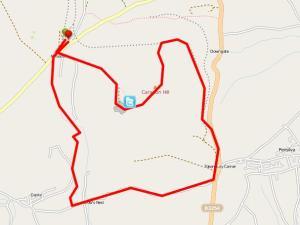 Walks And Walking - Cornwall Walks Bodmin Moor Caradon Hill Walking Route Map